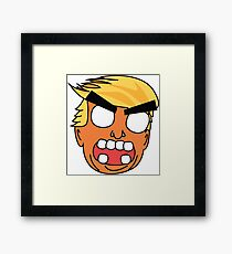 angry zombie trump Framed Print