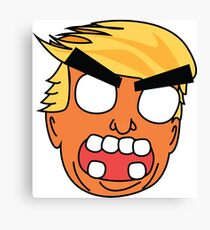 angry zombie trump Canvas Print