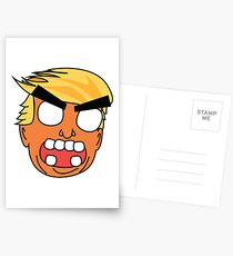 angry zombie trump Postcards