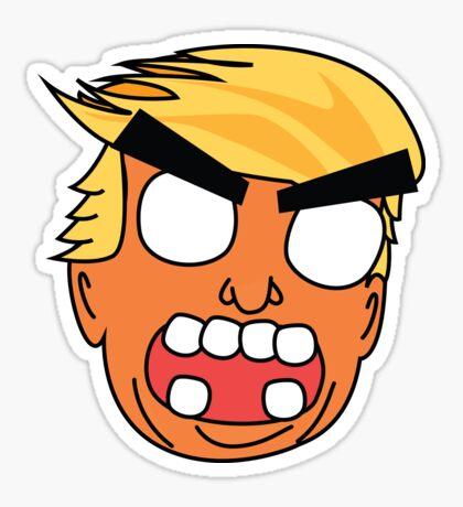angry zombie trump Glossy Sticker