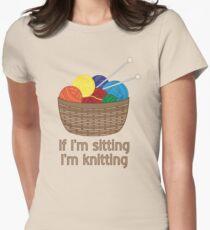 If I'm Sitting, I'm Knitting T-Shirt
