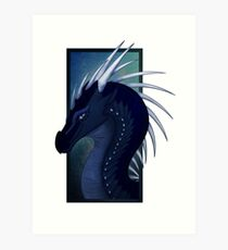 Wings of Fire - Whiteout Headshot Art Print