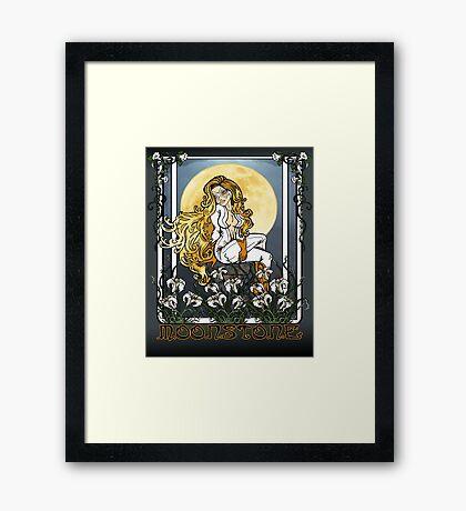 Moonstone Nouveau Framed Print