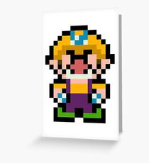 Pixel Wario Greeting Card