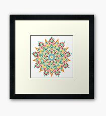 Mandala color 1 Framed Print