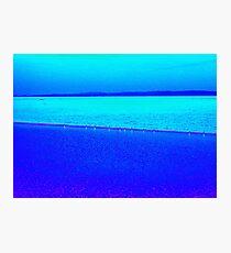Sky blue, sea blue Photographic Print