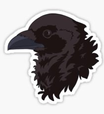 Black and Purple Bran Raven Sticker