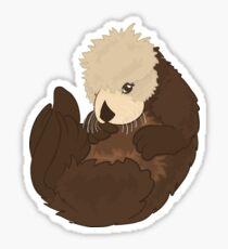 Adorable Baby Sea Otter Sticker