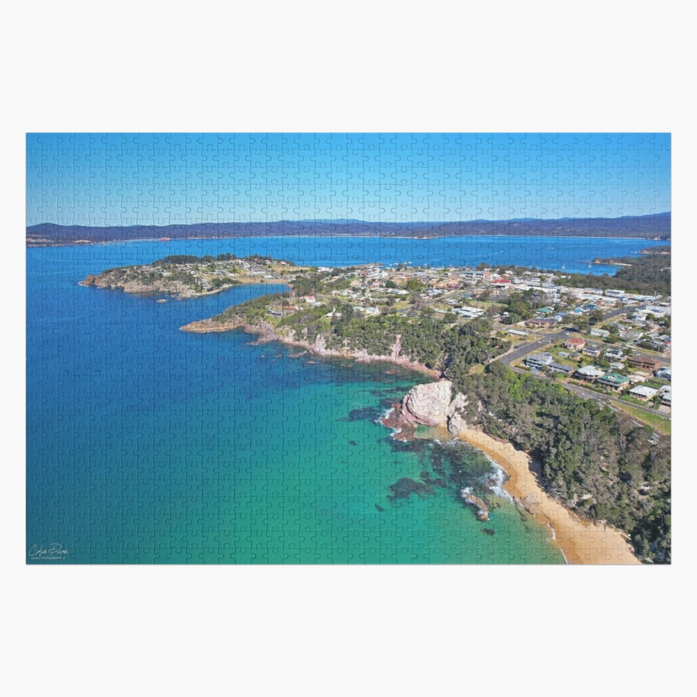 Eden Ocean Pool and Town End of Winter 2021 Jigsaw Size Jigsaw Puzzle