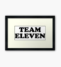 Team Eleven Framed Print