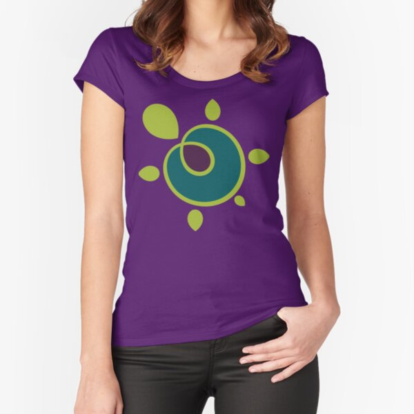 Jewel Tone Turtle Fitted Scoop T-Shirt