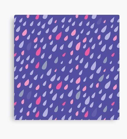 Blue Funny Drops Canvas Print