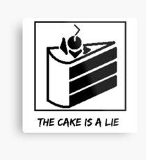 The Cake is a Lie ;( Metal Print