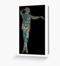 Michael Jackson Typography Poster Bad Greeting Card