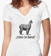 Cómo se llama? Women's Fitted V-Neck T-Shirt