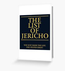 The List of Jericho Greeting Card