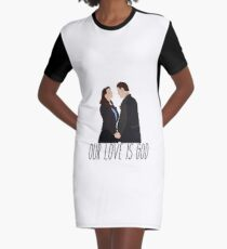 Our Love Is God- Heathers Graphic T-Shirt Dress