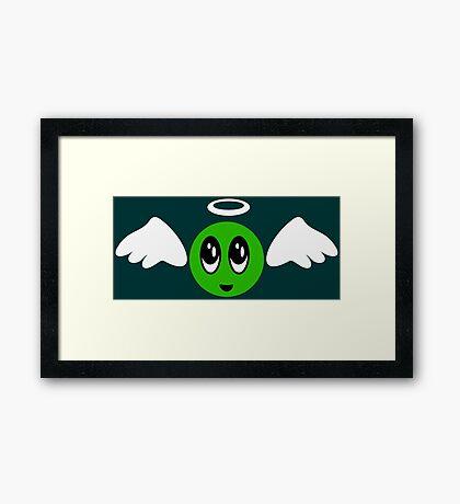 Angel Smiley (green) VRS2 Framed Print