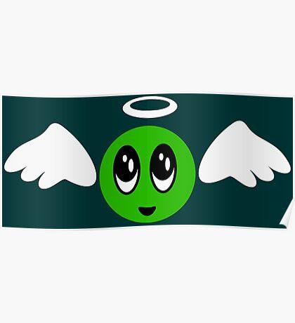 Angel Smiley (green) VRS2 Poster