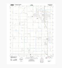USGS TOPO Map Arizona AZ Coolidge 20111021 TM Photographic Print