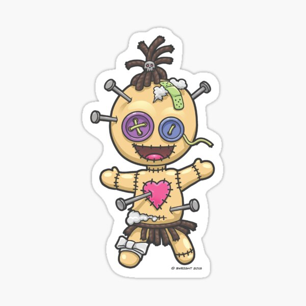 Voodoo-Puppe Sticker
