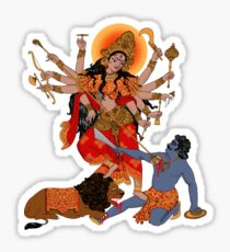 Goddess of Power : Durga (color) Sticker