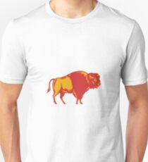 American Bison Side Woodcut T-Shirt