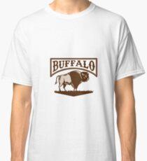 Buffalo American Bison Side Woodcut Classic T-Shirt