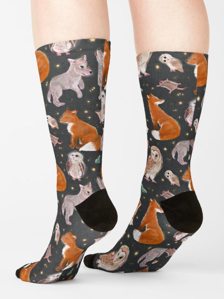 Alternate view of Woodland nocturnal animals Socks