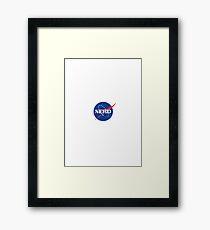 Nerd Logo Framed Print