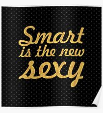 Smart... Inspirational Quote (Square) Poster