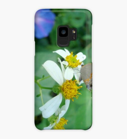 Banded Hairstreak in Spanish Needles Case/Skin for Samsung Galaxy