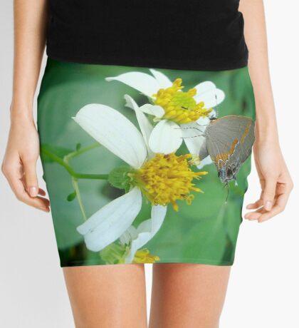 Banded Hairstreak in Spanish Needles Mini Skirt