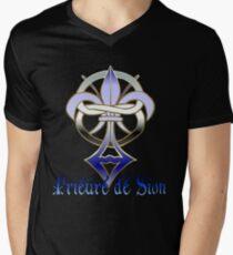 Prieuré de Sion Mens V-Neck T-Shirt