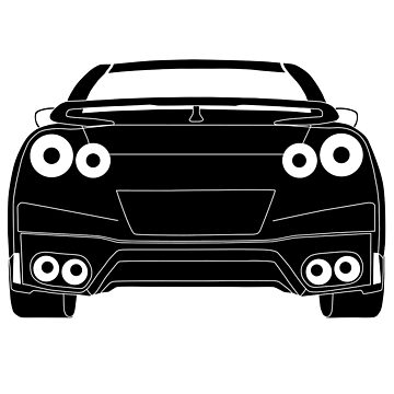 Rear Tail Light Tee / Sticker for R35 Nissan GTR enthusiasts - Black by TheStickerLab