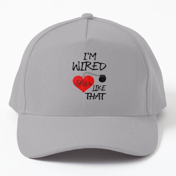 I'm Wired Like That Pacemaker Joke Heart Disease Awareness (SPORT GREY) Baseball Cap