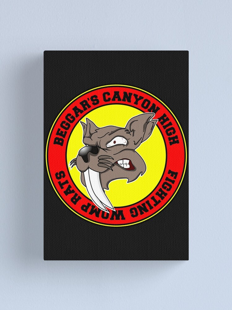 Beggar S Canyon High School Fighting Womp Rats Canvas Print By Jcharlesw Redbubble Ones that lived in beggar's canyon, ones that lived in the jundland wastes, and swamp womp rats. beggar s canyon high school fighting womp rats canvas print by jcharlesw redbubble