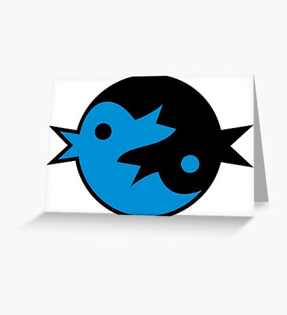 Zen Tweet VRS2 Greeting Card