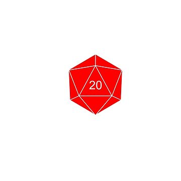 d20 Dice (Red) by Ralf19