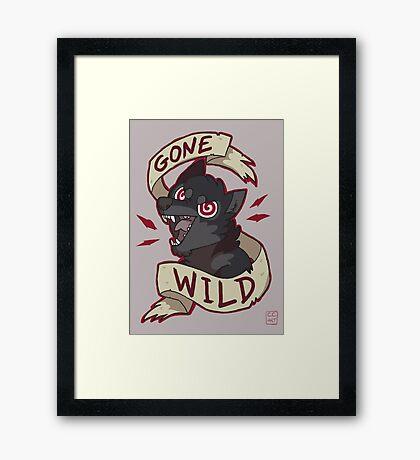 Gone Wild Framed Print