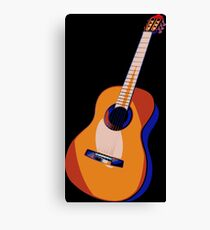Guitar of Colors Canvas Print