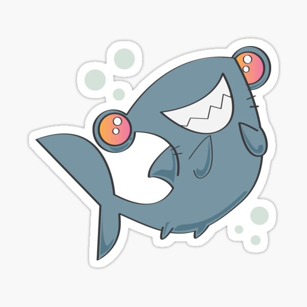 Happy Hammerhead Shark Sticker