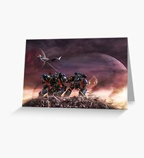 Space Marines Greeting Card