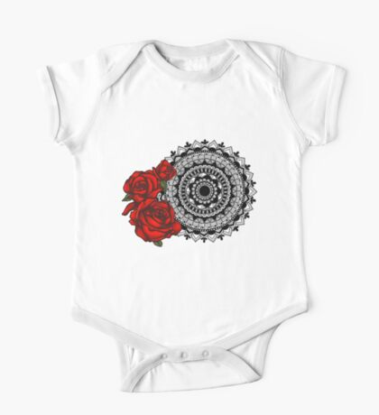 Red rose mandala Kids Clothes