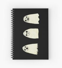 Three Spooky Ghosts Spiral Notebook