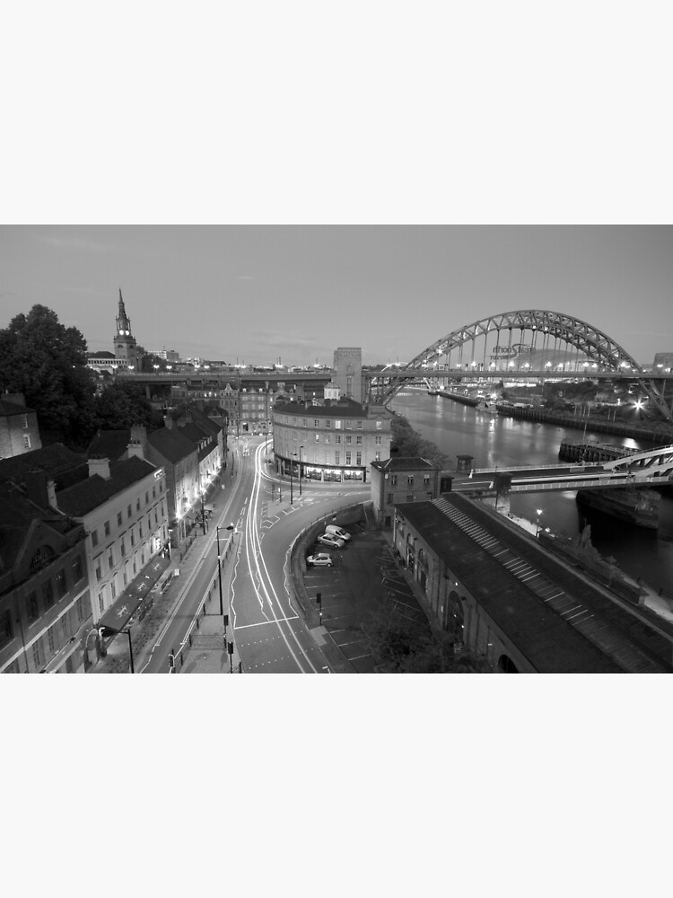 Sandhill, Newcastle upon Tyne at Dusk, Monochrome by robcole