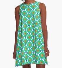 Abstract colorful seamless pattern ornament A-Line Dress