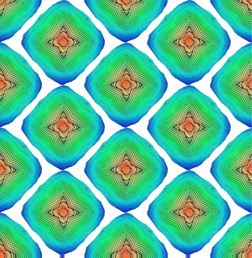 Abstract colorful seamless pattern ornament by Alliass
