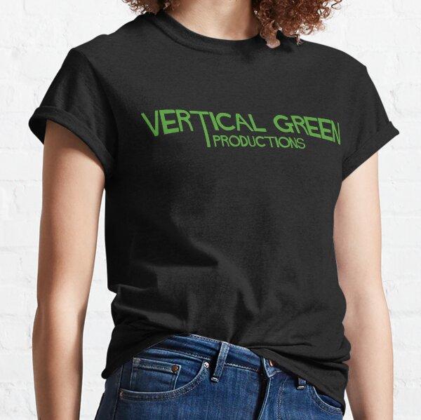 Vertical Green Classic T-Shirt