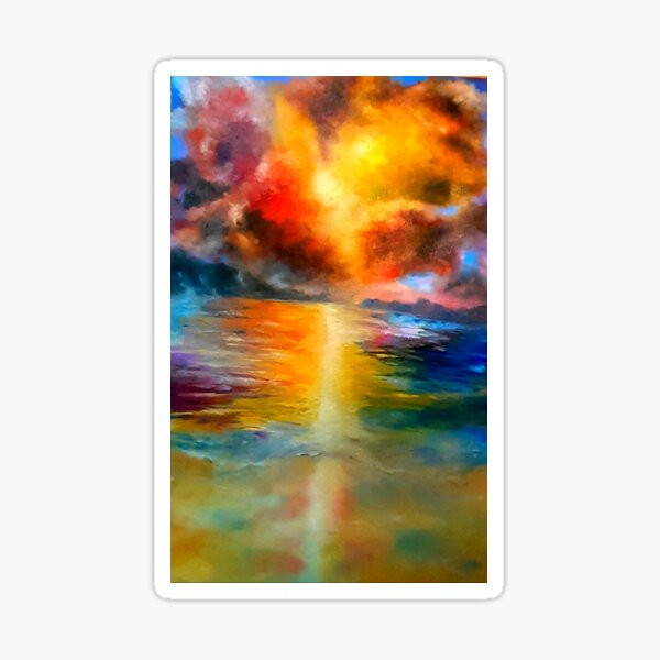 Ocean colour scene Sticker